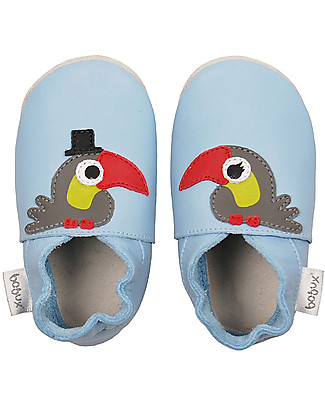 Bobux Soft Sole, Azure with Toucan - The next best thing after bare feet! Bobux Soft Sole
