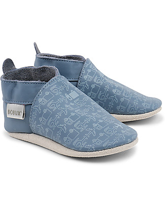 Bobux Soft Sole, Blue + Vehicles - The next best thing after bare feet! Shoes