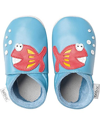 Bobux Soft Sole, Blue with Fish - The next best thing after bare feet! Shoes
