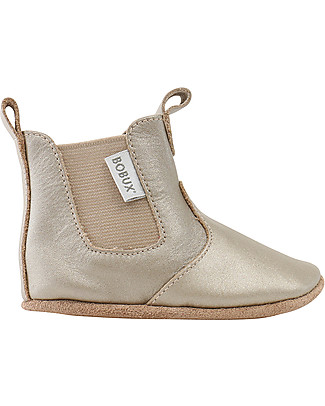 Bobux Soft Sole Booties, Gold - The next best thing after bare feet! null