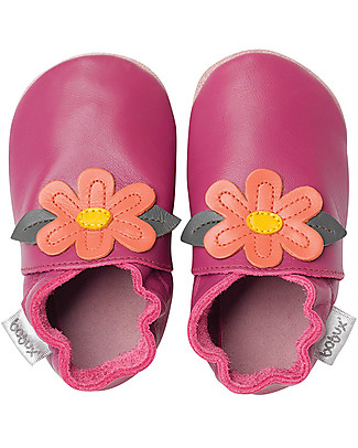 Bobux Soft Sole, Cerise with Gypsy Flower - The next best thing after bare feet! Shoes