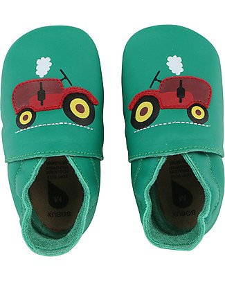 Bobux Soft Sole, Emerald Green Tractor - The next best thing after bare feet! Bobux Soft Sole