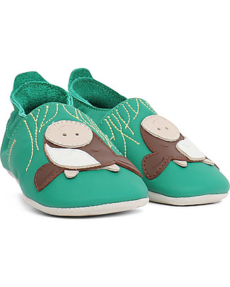 Bobux Soft Sole, Emerald with Cow - The next best thing after bare feet! Shoes