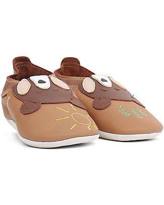 Bobux Soft Sole Grand (2-5 years), Caramel with Bear - The next best thing after bare feet! Shoes
