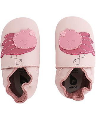 Bobux Soft Sole Grand (2-5 years), Light Pink with Flamingo - The next best thing after bare feet! Bobux Soft Sole