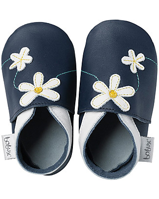 Bobux Soft Sole Grand (2-6 years), Navy with Daisy - The next best thing after bare feet! Shoes