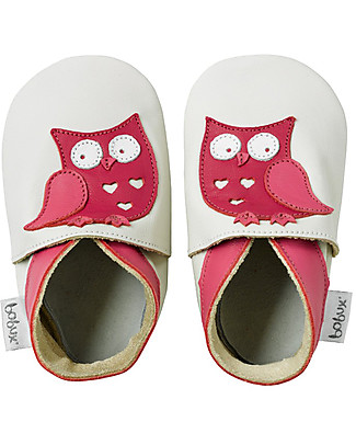 Bobux Soft Sole Grand (3-4 years), Milk with Owl - The next best thing after bare feet! Shoes