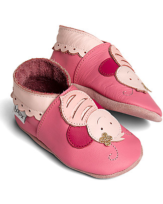Bobux Soft Sole Grand (5-6 years), Bright Pink Bee - The next best thing after bare feet! Shoes