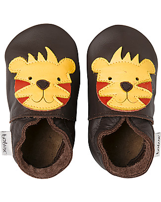 Bobux Soft Sole Grand (5-6 years), Chocolate with Tiger - The next best thing after bare feet! Shoes