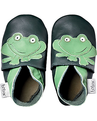 Bobux Soft Sole Grand (5-6 years), Dark Green with Frog - The next best thing after bare feet! Shoes