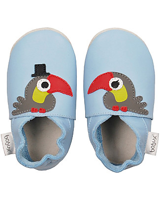 Bobux Soft Sole Grand (5 years), Azure with Toucan - The next best thing after bare feet! Shoes