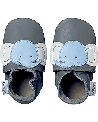 Bobux Soft Sole, Grey with Elephant - The next best thing after bare feet! Shoes