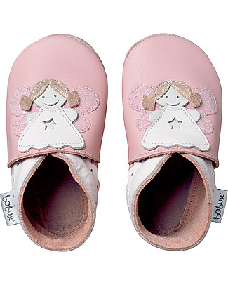 Bobux Soft Sole, Light Pink with Fairy - The next best thing after bare feet! Shoes