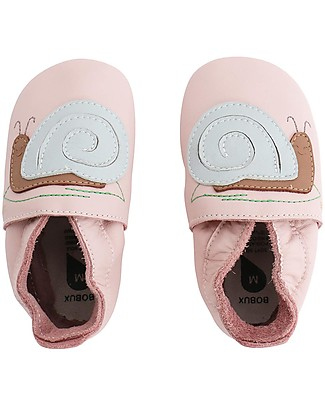 Bobux Soft Sole, Light Pink with Snail - The next best thing after bare feet! Bobux Soft Sole