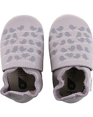Bobux Soft Sole, Lilac with Birds - The next best thing after bare feet! null
