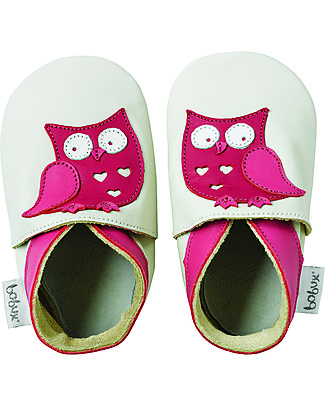 Bobux Soft Sole, Milk with Owl - The next best thing after bare feet! Bobux Soft Sole