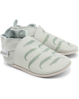 Bobux Soft Sole, Mint with Crocodiles - The next best thing after bare feet! Shoes