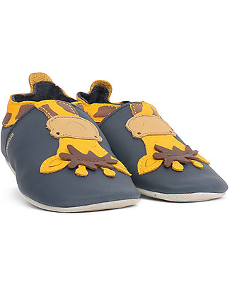 Bobux Soft Sole, Navy con Giraffe - The next best thing after bare feet! Bobux Soft Sole