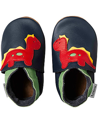 Bobux Soft Sole, Navy with Dinosaur - The next best thing after bare feet! Shoes