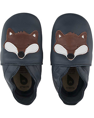 Bobux Soft Sole, Navy with Fox - The next best thing after bare feet! Shoes