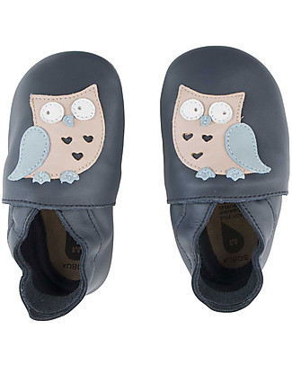 Bobux Soft Sole, Navy with Owl - The next best thing after bare feet! Bobux Soft Sole