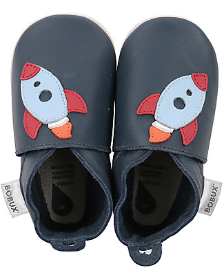 Bobux Soft Sole, Navy with Rocket - The next best thing after bare feet! Bobux Soft Sole