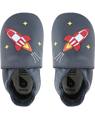 Bobux Soft Sole, Navy with Rocket - The next best thing after bare feet! Shoes
