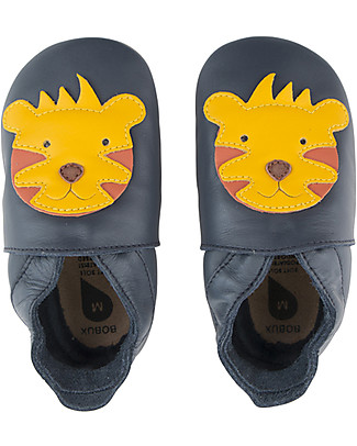 Bobux Soft Sole, Navy with Tiger - The next best thing after bare feet! Bobux Soft Sole