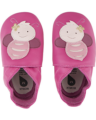 Bobux Soft Sole, Pink with Bee - The next best thing after bare feet! Shoes