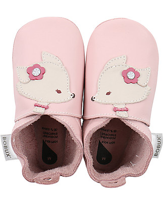 Bobux Soft Sole, Pink with Fox - The next best thing after bare feet! null