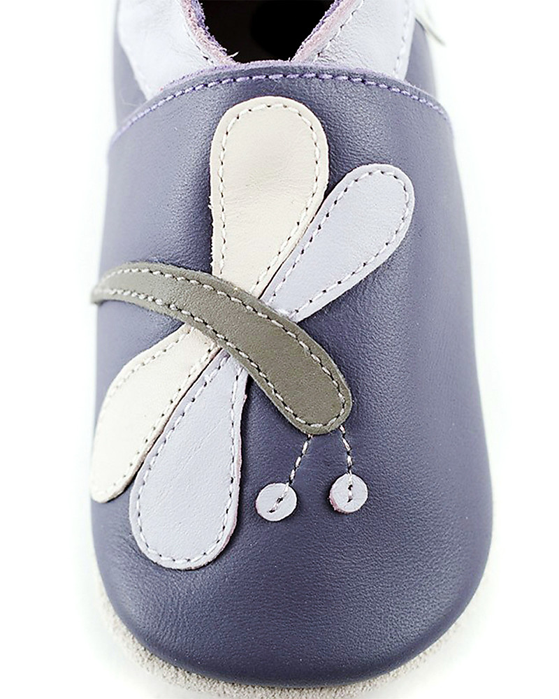 Bobux Rabbit Lilac Leather Baby Soft Soles
