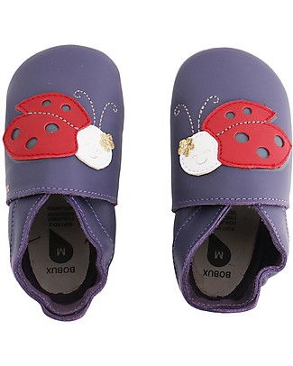 Bobux Soft Sole, Purple with Lady Bird - The next best thing after bare feet! Bobux Soft Sole