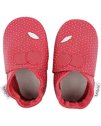 Bobux Soft Sole, Red with Cherry - The next best thing after bare feet! Bobux Soft Sole