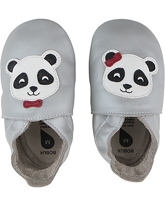 Bobux Soft Sole, Silver with Panda - The next best thing after bare feet! Shoes