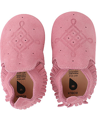 Bobux Soft Sole Suede Moccassin, Pink - 3-6 years Bobux Soft Sole