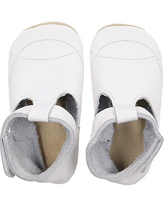 Bobux Soft Sole, White T-Bar - The next best thing after bare feet! Shoes
