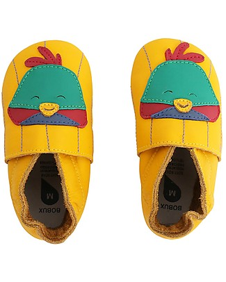 Bobux Soft Sole, Yellow with Bird- The next best thing after bare feet! Bobux Soft Sole