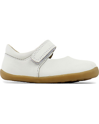 Bobux Step-Up Classic Dance Mary-Jane, White - Ultra flexible, perfect for first steps! Shoes