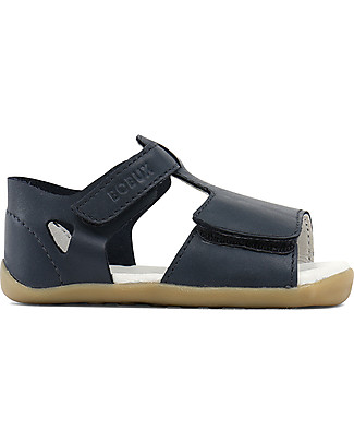 Bobux Step-Up Classic Mirror Sandal, Navy - Ultra flexible, perfect for first steps! Shoes