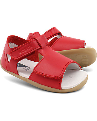 Bobux Step-Up Classic Mirror Sandal, Red - Ultra flexible, perfect for first steps! Shoes