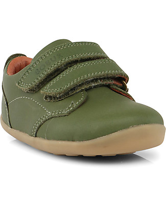 Bobux Step-Up Classic Swap Shoe, Army - Ultra flexible, perfect for first steps! Shoes