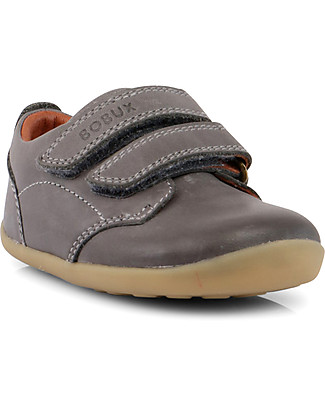 Bobux Step-Up Classic Swap Shoe, Charcoal - Ultra flexible, perfect for first steps! Shoes