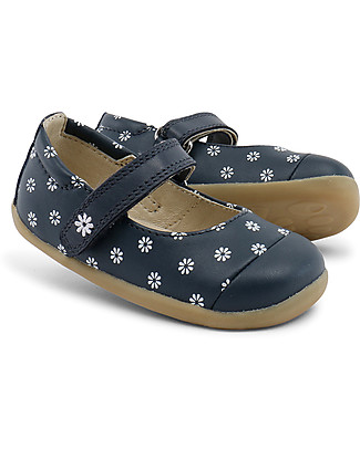 Bobux Step-Up Classic Swing Ballet, Navy/Daisies - Ultra flexible, perfect for first steps! Shoes