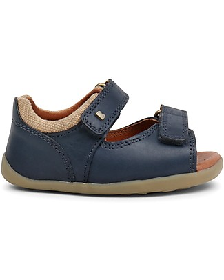 Bobux Step-Up Driftwood Sandal, Navy - Ultra flexible, perfect for first steps! Shoes