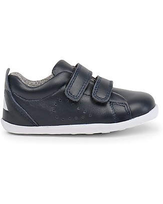Bobux Step-Up Grass Court, Navy - Ultra flexible, perfect for first steps! Shoes