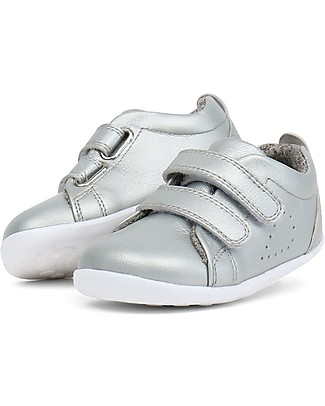 Bobux Step-Up Grass Court, Silver - Ultra flexible, perfect for first steps! Shoes