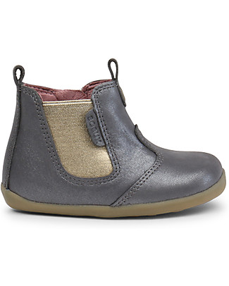 Bobux Step-Up Jodphur Shimmer Boot, Charcoal – Perfect for first steps! Shoes