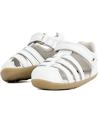 Bobux Step-Up Jump Sandal, White – Ultra flexible, perfect for first steps! Shoes