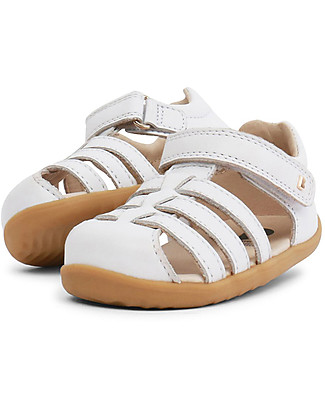 Bobux Step-Up Jump Sandal, White - Ultra flexible, perfect for first steps! Shoes