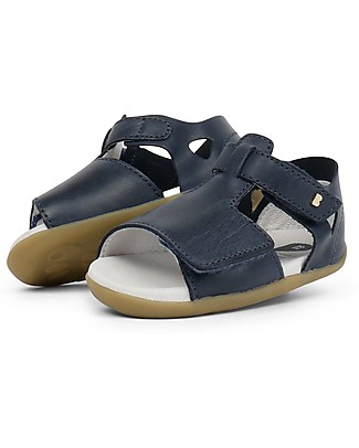 Bobux Step-Up Mirror Sandal, Navy - Ultra flexible, perfect for first steps! Shoes